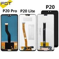 Para huawei p20 EML-L09C EML-L29C/p20 lite nova 3e/p20 pro CLT-L09 CLT-L29 display lcd + tela de toque digitador assembléia