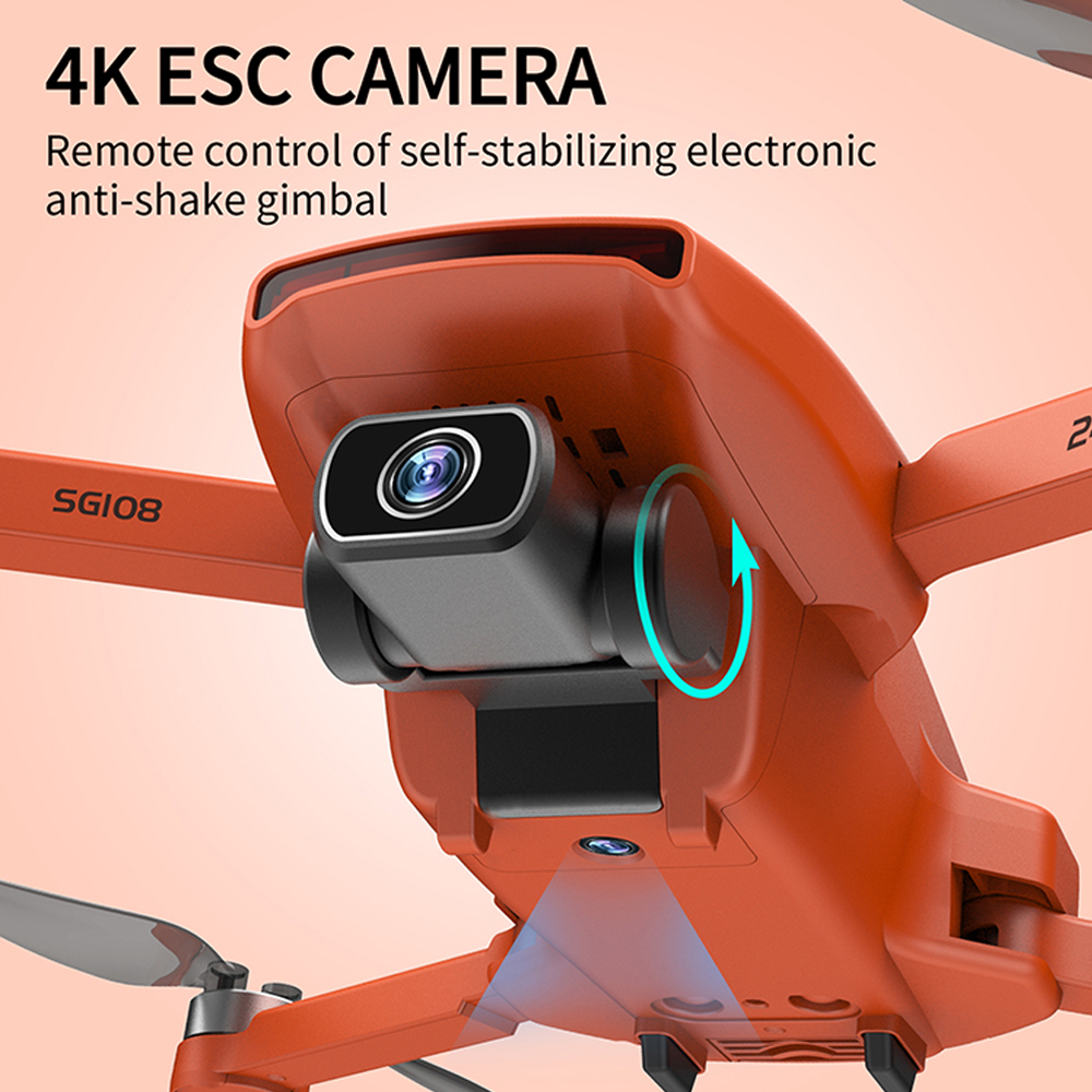 2020 New SG108 Drone 4k HD FPV Drone 5G WiFi GPS Dron Brushles Motor Flight For 25 Min RC Distance 1km RC Quadcopter VS Ex5 Dron 5