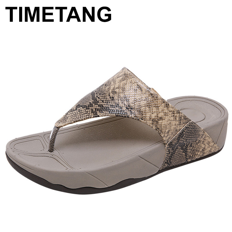 TIMETANGSandals High Quality Summer Lady Shoes Sexy Beach Bottom Thick Breathable Open Toe For WomenE068