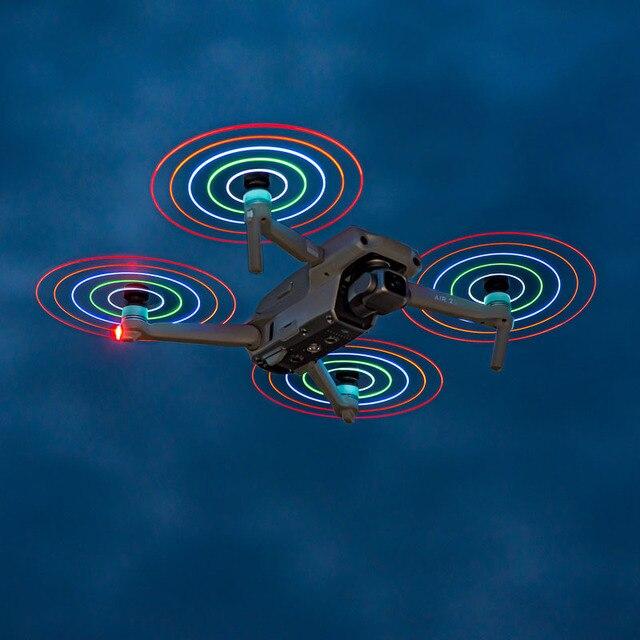 Startrc Mavic Air 2S Led Flash Propeller 7238F Low Noise Oplaadbare Rekwisieten Nacht Vliegen Voor Dji Mavic Air 2 drone Accessoires