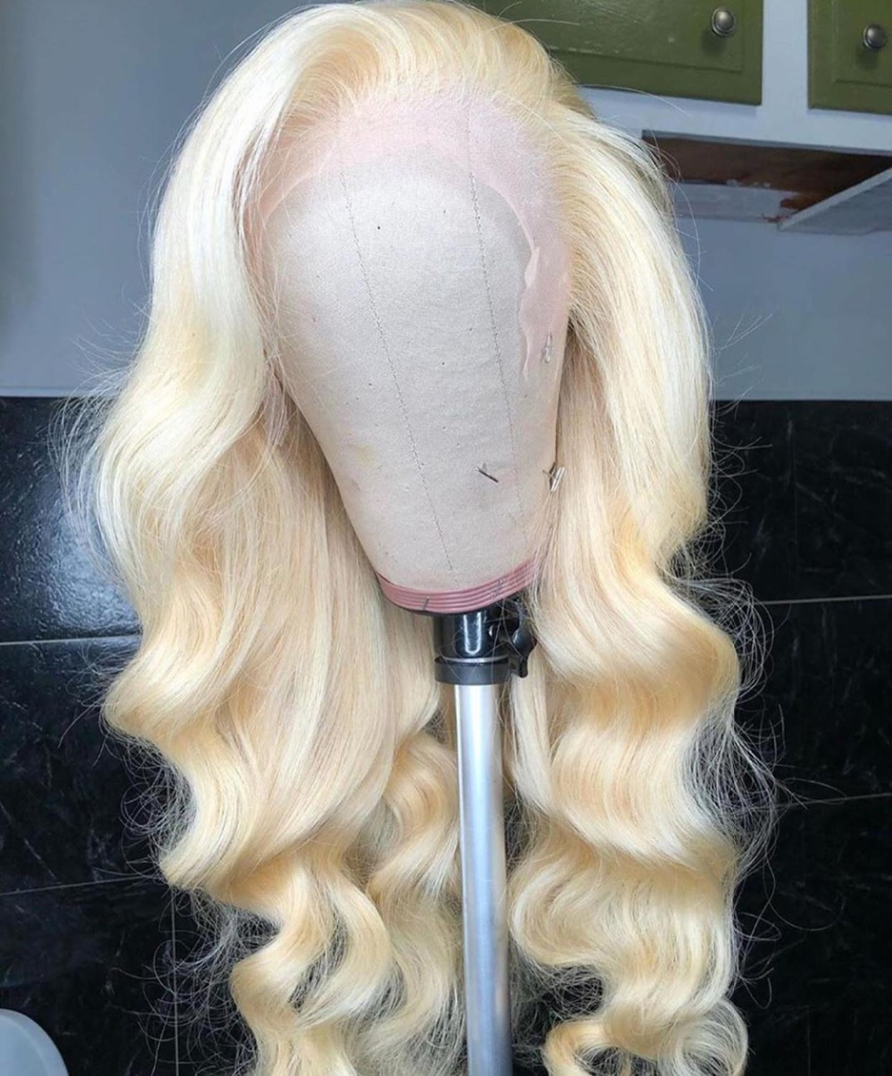 Brazilian-613-Blonde-Transparent-Lace-Front-Wig-Choshim-Remy-Human-Hair-Body-Wave-13x4-Lace-Front