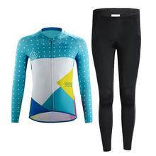 Детский комплект для велоспорта, быстросохнущая велосипедная рубашка с длинным рукавом, профессиональная велосипедная футболка, штаны для мальчиков и девочек, дышащая велосипедная одежда