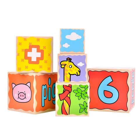 brinquedo woo diversao das criancas jengle empilhamento de madeira blocos do bebe caixa de aninhamento