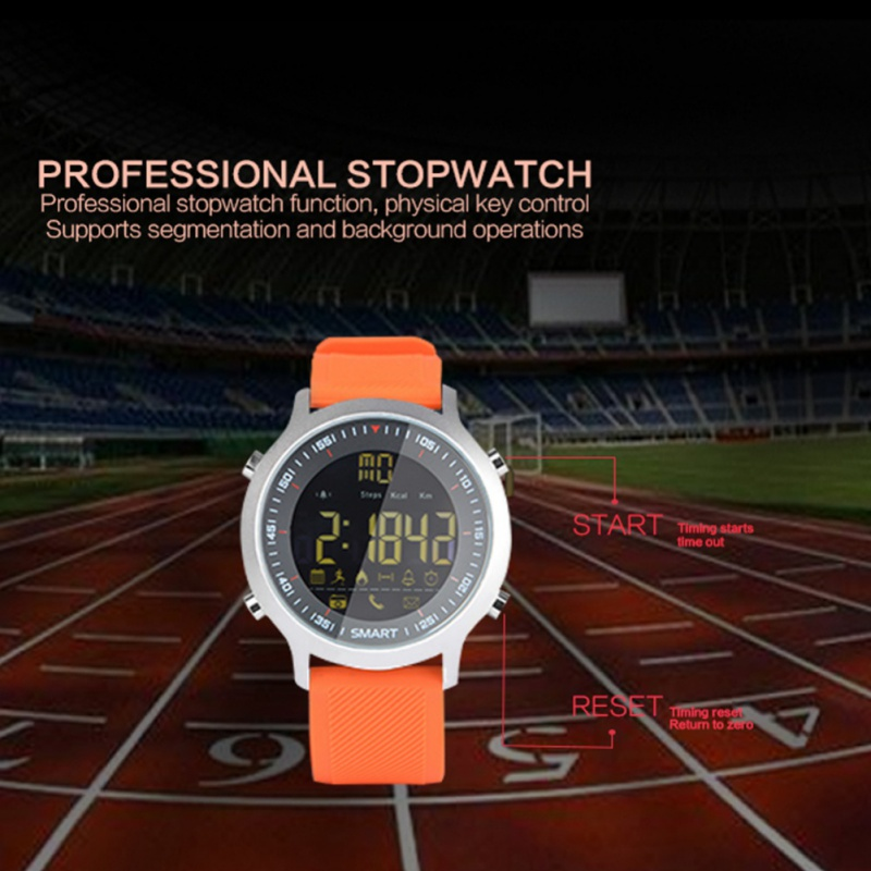 Waterproof <font><b>Smart</b></font> <font><b>Watch</b></font> Alarm Wearable Devices For iOS Android Phone <font><b>EX18</b></font> Sport <font><b>Smart</b></font> <font><b>Watch</b></font> Pedometer 50m Depth image