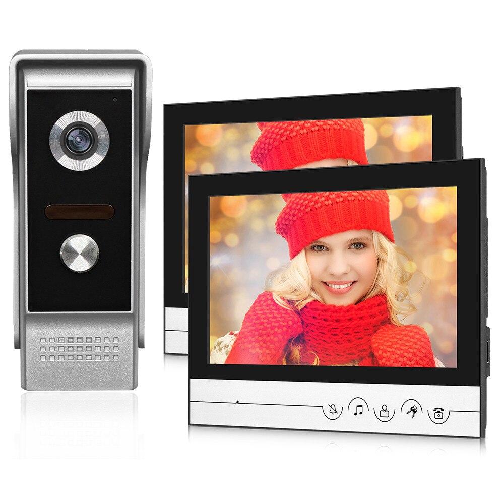 9inch Large Color Screen Wired Video Doorbell Intercom System Video Door Phone Monitor 700TVL Outdoor Camera Door Bell for Home