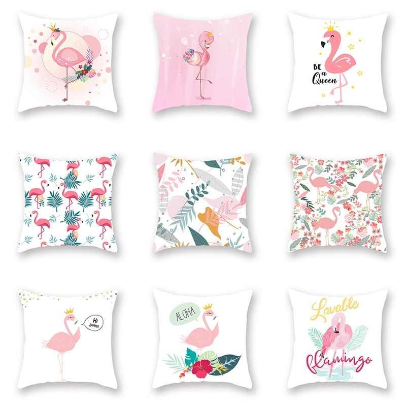 Фото Розовый фламинго тропический Подушка Чехлы цветок пледы наволочка для