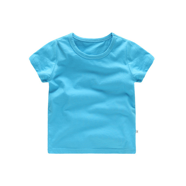 VIDMID Kids Tops Baby Boys Cotton Short Sleeve t-shirt Tees girls Children Casual candy color clothes  boys girls tees 4018  01 4