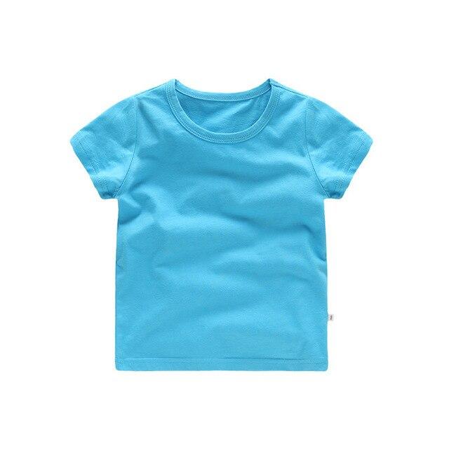 VIDMID Bambini Magliette e camicette Del Bambino Dei Ragazzi del Cotone Manica Corta t-shirt Magliette delle ragazze Dei Bambini Casual di colore della caramella vestiti del bambino del bambino delle ragazze dei ragazzi Magliette 4018 4