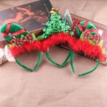 Рождественские повязки на голову, головные уборы с рождественской елкой, вечерние головные уборы, повязка на голову с застежкой, украшения на голову, аксессуары, подарки на вечерние