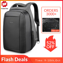 Tigernu Mochila Laptop-Backpacks Usb-Charger Water-Repellent Zipper Travel Anti-Theft