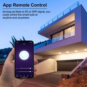 Image 3 - E27 akıllı Wifi LED ampul 7/9W WCRGB Tuya akıllı kısılabilir lamba ampul rengi değişen müzik ile uyumlu alexa Google ev ile