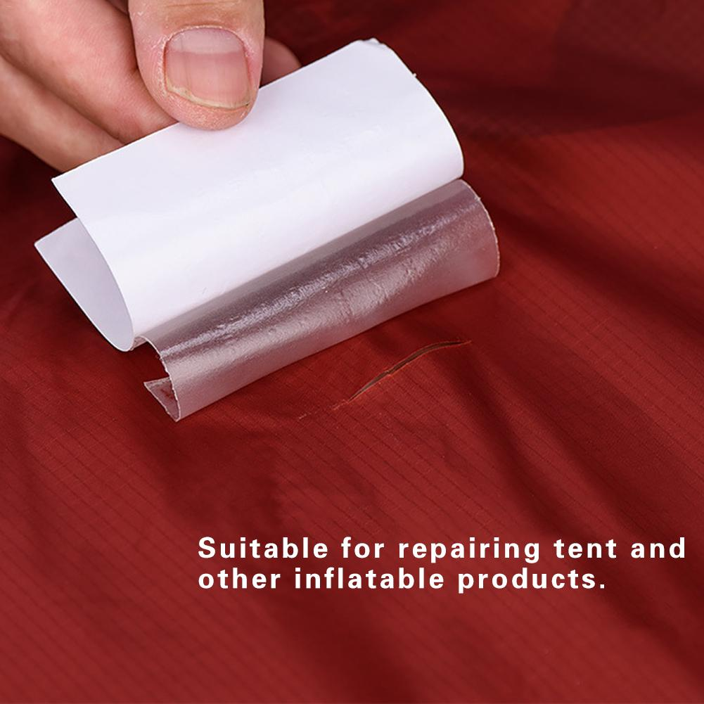 3Pcs Tent Repair Paste Waterproof Repair Patch Fabric Stickers For Tent Sleeping Bag Inflatable Cushion Translucent TPU Camping
