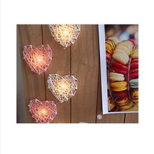 Wooden Crafts Heart-shaped Lighting Wall Hanging Literary Fan Ornament Bar Personality Wall Decoration(China)