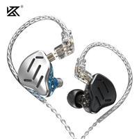 KZ ZAX Headset 16 Units HIFI Bass In Ear Monitor Hybrid Technology Earphones Noise Cancelling Earbuds 7BA+1DD Sport Headphones
