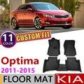 Özel araba deri paspaslar KIA Optima için K5 TF 2011 ~ 2015 5 koltuk anti-kirli ayak pedi halı aksesuarları 2012 2013 2014