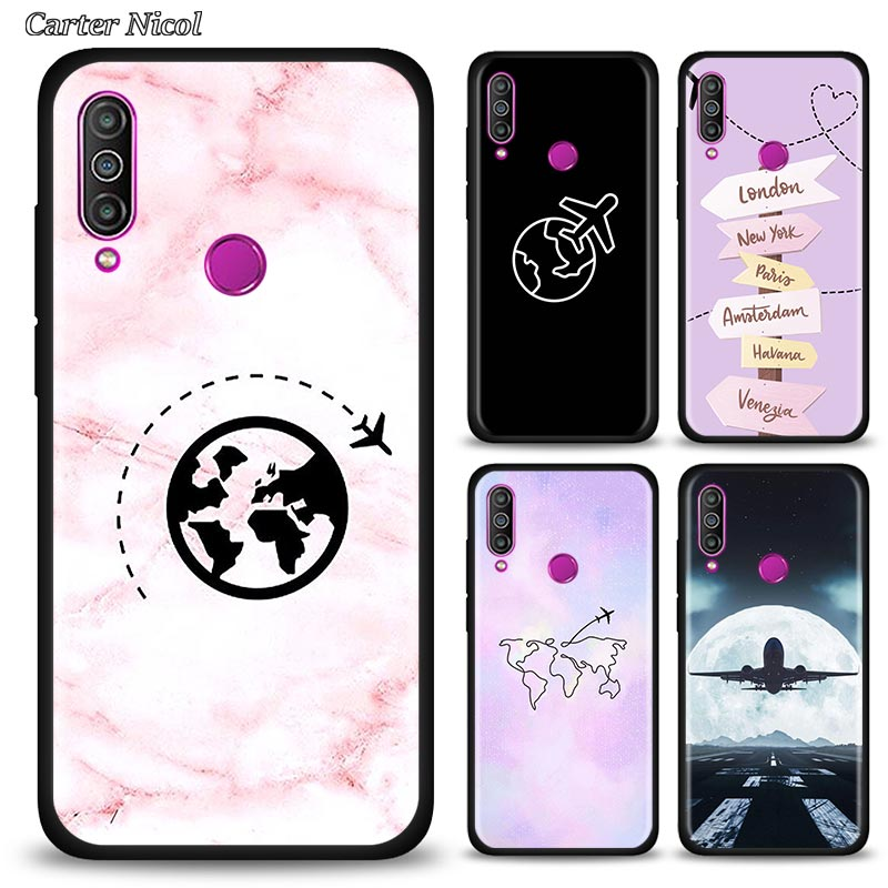 Airplane Fly Travel Pilot Plane Silicone Case Fundas For <font><b>Meizu</b></font> <font><b>16</b></font> 16th 16s 16sPro 16T 16Xs M6 17 <font><b>Pro</b></font> Soft Black Cover Couqe image