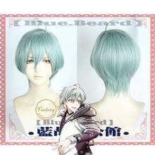 Jogo idolish7 zool cosplay peruca isumi haruka verde halloween role play cabelo + boné peruca livre