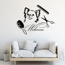 Welcome To Pet Salon Washing Wall Sticker Pets Shop Store Decoration Cute Fashion Poster Mural Vinyl Art Decals W594