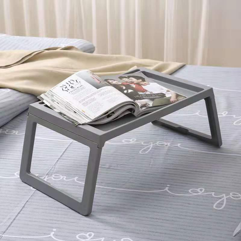 Folding Laptop Table Stand Portable Study Desk Plastic Foldable Computer Desk For Bed Sofa Breakfast Bed Tray Serving Table