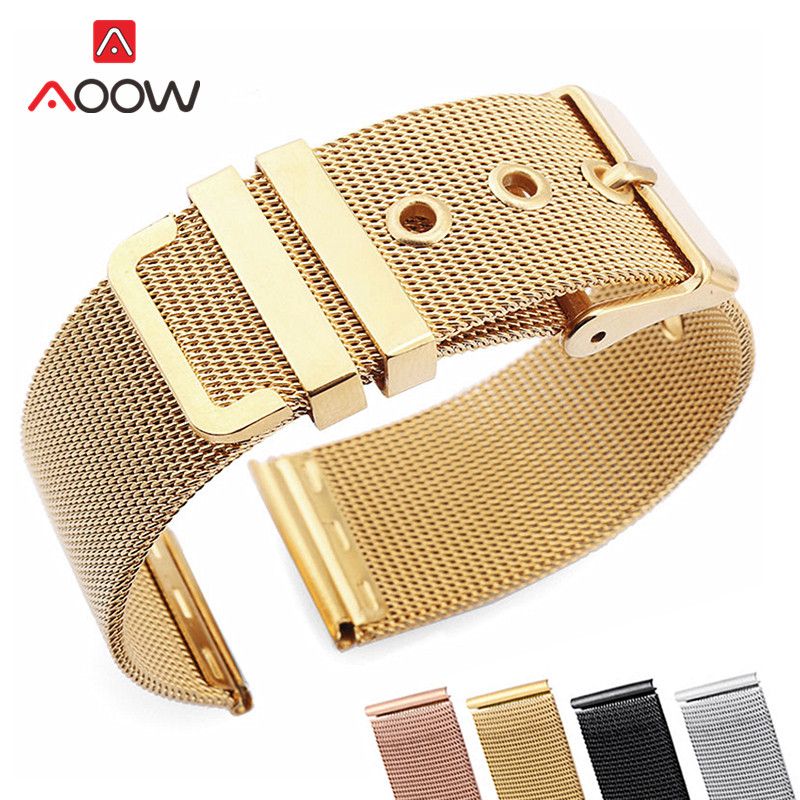 Milanese Loop Watchband 18mm 20mm 22mm 24mm Stainless Steel Universal Replacement Strap Band Watch Accessories Rose Gold