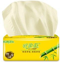 Gentle Cool 300 Bamboe Pulp Papier Extractie Kleur Toiletpapier Huishouden Servet 3-Layer Tissue Papier 1 Stuk kan Verlenen