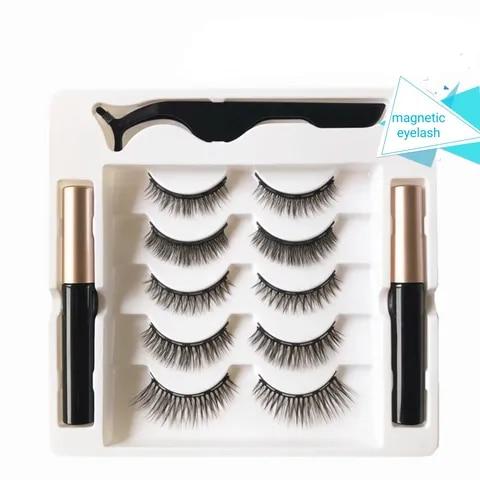 cilios magneticos com delineador magnetico 5 pcs caixa ferramenta de maquiagem dos olhos de longa