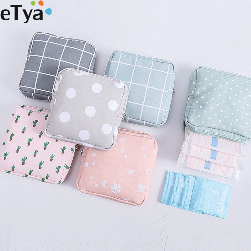 ETya Women Small Cosmetic Bag Set  Zipper Girls  Mini Makeup  Lipstic Bags Travel  Earphone Coin Napkin Organizer Pouch Bag