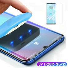 5D UV Glue Screen Protector For Huawei P30 P20 Lite Pro Nova3e Tempered Glass Full Cover Protector Film For Mate 20 Pro Lite(China)
