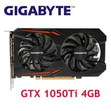 GIGABYTE GPU GTX 1050Ti 4GB grafik kartları 128Bit ekran kartı nVIDIA Geforce GTX 1050 Hdmi Dvi VGA kartları harita PCI 3.0 kullanılan
