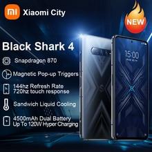Schwarz Shark 4 Globale Smartphone Xiaomi Blackshark 4 6gb/8gb/12gb Ram 128gb und 256gb Rom Globale Version Gaming Telefon