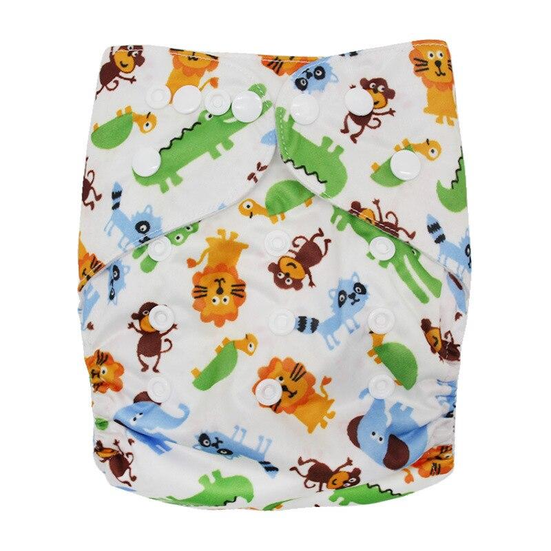 Детские моющиеся многоразовые подгузники из настоящей ткани с карманом, подгузники, чехлы для подгузников, костюмы для новорожденных и горшков, один размер, подгузники с героями мультфильмов - Цвет: Animal