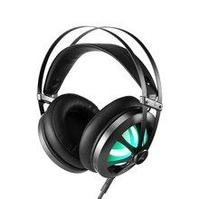Игровая гарнитура стерео наушники-вкладыши с светодиодный подсветкой Встроенный микрофон Проводные Игровые наушники для PS4 PC Gamer