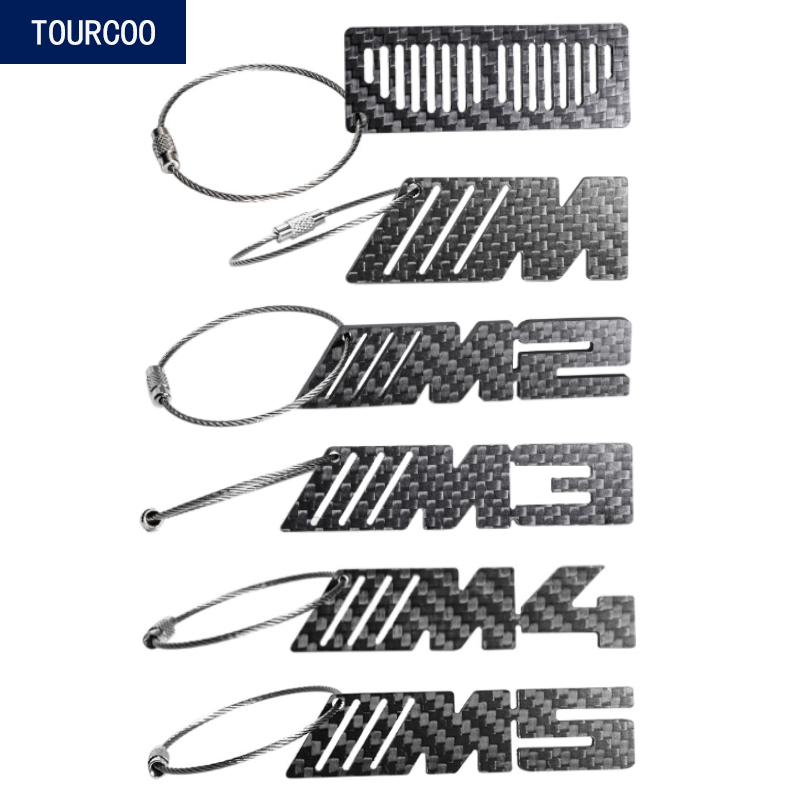 AQUAOK 2 Pack Car Logo Keychain Fob Key Chain Ring Heavy Duty Metal Clip for Belt for BMW M2 M3 M4 M5 M8 Motorcycle Gift for Men Women