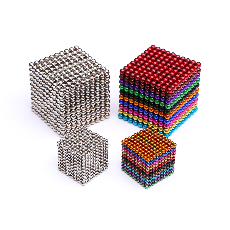 3mm 5mm 512pcs 1000pcs Magnetic Balls Neo Cube With Metal Box Metaballs Neodymium Puzzle Magnet