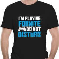 100% Cotton  brand men shirt I'm playing Fornite do not disturb Creative Graphic fashion summer shirt 0614R