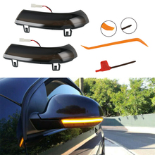 Pair Car Dynamic Flowing Wing Mirror LED Indicator Turn Signal Light For Golf MK5