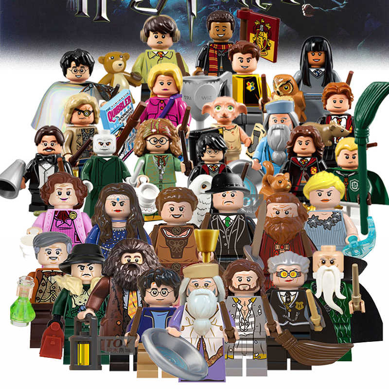 Magic Sirius Orion Black Harri Dobby Malfoy Dumbledore Minerva McGonagall Snape Hagrid building Blocks Toys Gifts For Children