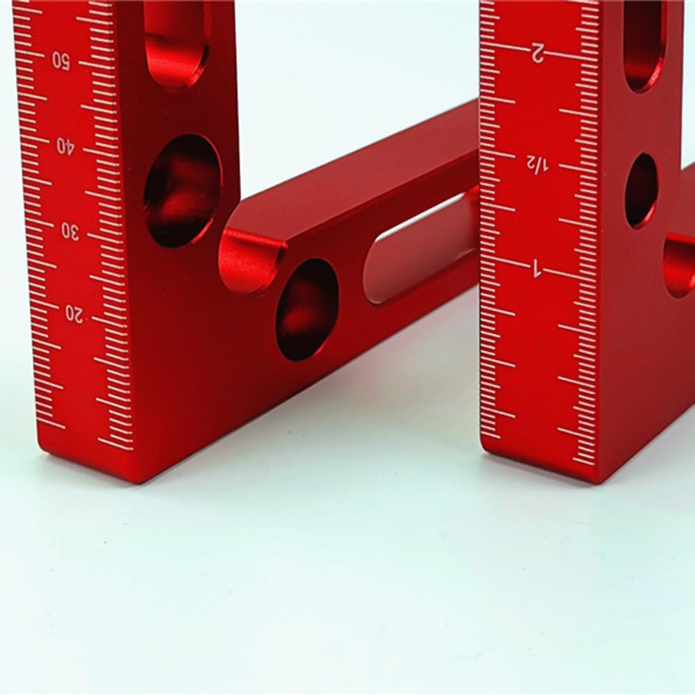 Precision Positioning Squares Woodworking Tool,Mini Clamping Squares Aluminum Measurement Kit,90 Degree,10CM