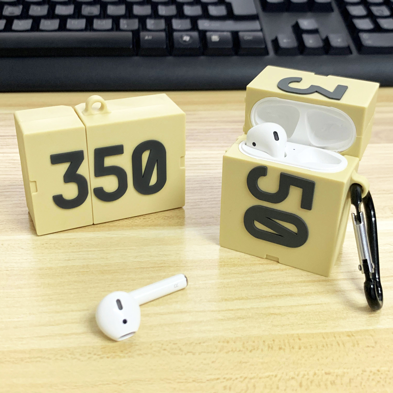 Boost <font><b>350</b></font> Silicone Case For Airpods 2 1 Protection Luxury Sports <font><b>Shoe</b></font> <font><b>350</b></font> Protective Cover Earphone Cases Funda For Airpod Coque image