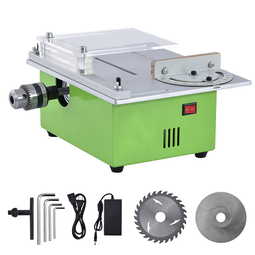 Mini Table Saw For Woodworking DC24V Portable DIY Wood Cutting Machine,Buddha Beads Polish Machine Metal/Acrylic Circular Saw