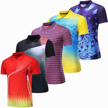 Профессиональная быстросохнущая рубашка для игры в бадминтон для мужчин и женщин, теннисная футболка s, спортивная рубашка поло для гольфа, футболка для пинг-понга