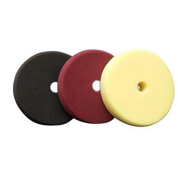 3 sztuk zestaw 6 cali 7 cali gąbka tarcza do polerowania płaskie przywracanie tarcza tarcza polerska tarcza szlifierska samoprzylepna gąbka tanie i dobre opinie CN (pochodzenie) 7 inch 180mm 6 inch 150mm black+purple+yellow 7 inch 6 inch sponge