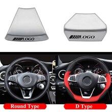 Car Steering Wheel Emblem Sticker Auto Decoration Trim Logo Badge Sticker For Mercedes Benz W212 W213 E200 E300 C E CLASS GLA