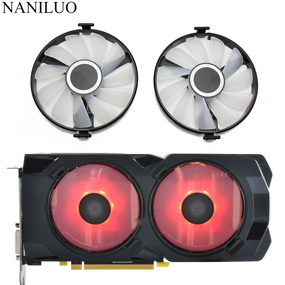 FDC10U12S9-C Cooler Fan Replace For XFX AMD Radeon RX 470 480 580 RX580 RX480 RX470 EDITION Crimson Graphics Card Cooling Fan