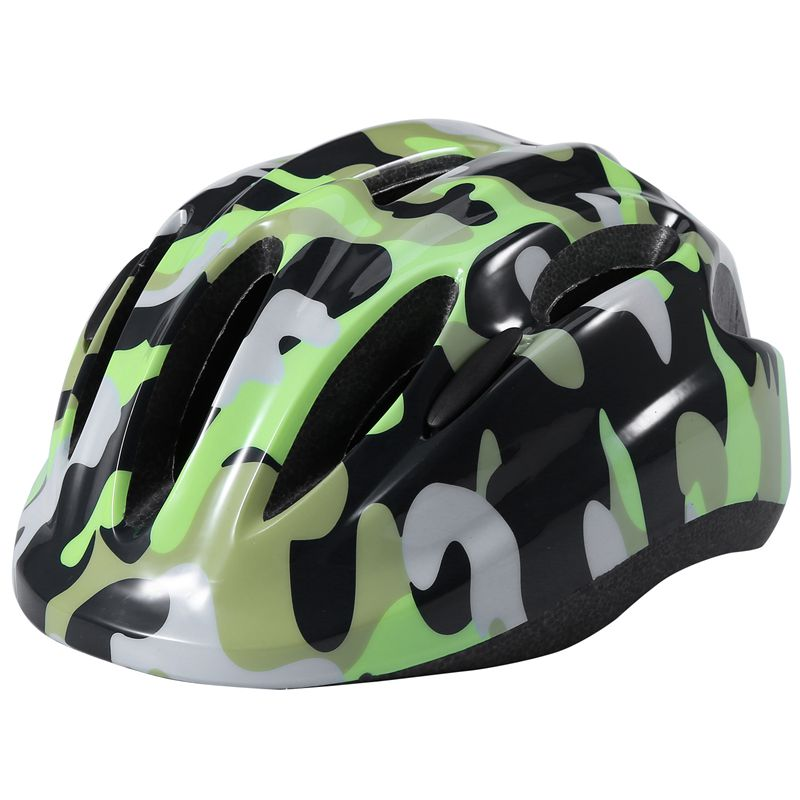 Children Bike Helmet Comfortable Adjustable Kids Helmet Fluorescent One Piece Helmet for Skating Cycling Rollerblading Scooters|Bicycle Helmet| |  - title=
