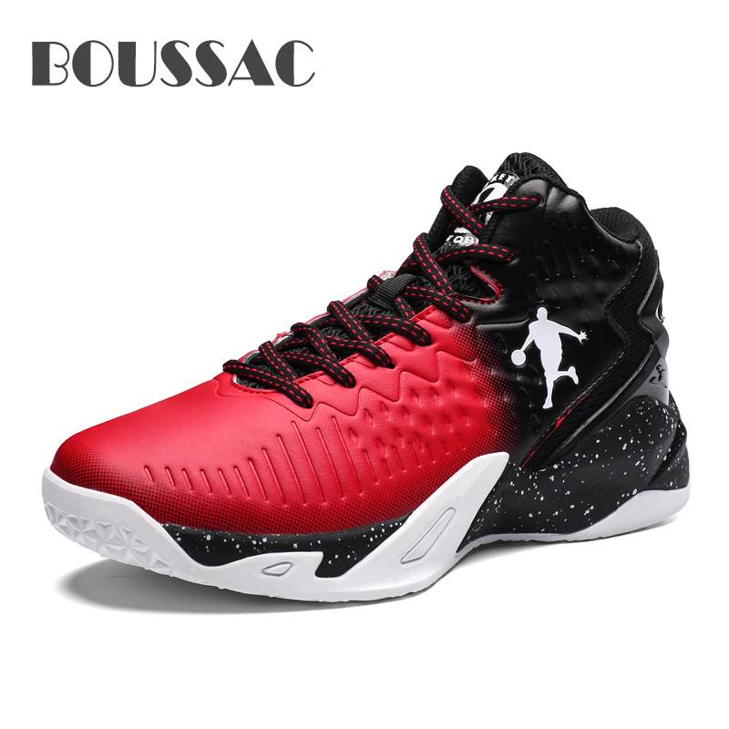 BOUSSAC Cushioning-Light Basketball-Shoes Jordan High-Top Men's Outdoor Anti-Skid Breathable title=