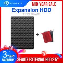 "Seagate HDD 1TB 2TB 4TB แบบพกพาฮาร์ดดิสก์ภายนอกไดรฟ์ USB 3.0 HDD 2.5 ""สำหรับเดสก์ท็อปแล็ปท็อป MacBook Ps4"