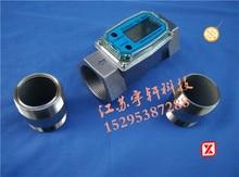 цена на Liquid crystal electronic turbine flowmeter diesel gasoline methanol flow meter liquid water meter 1 inch 1.5 inch