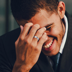 Vnox 6mm Matte Stainless Steel Ring for Men Black Color Wedding Band Finger Jewelry