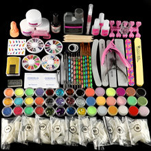 Pro Acryl Set Volledige Manicure Kit Acryl Poeder Glitter 120Ml Vloeistof Voor Nail Art Kit Clipper Gereedschap Kit Borstel voor Manicure